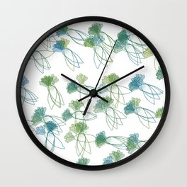 A bunch of daikons Wall Clock