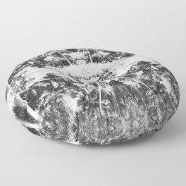Black n White Boho Pattern Floor Pillow