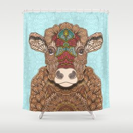 Frida the cow Shower Curtain