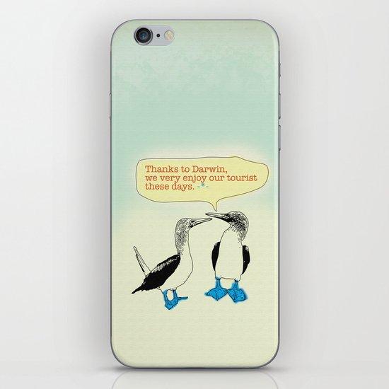 Leave Galapagos alone,pls. iPhone & iPod Skin