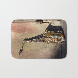 New Orleans French Quarter Saxophone Bath Mat