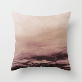 PINK & GOLD & BLACK TOUCHING #1 #abstract #decor #art #society6 Throw Pillow