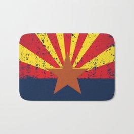 Arizona Flag Grunged Bath Mat
