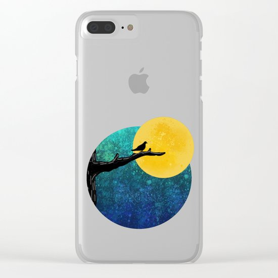 black bird Clear iPhone Case