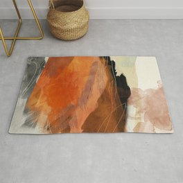 landscape in fall abstract art Rug