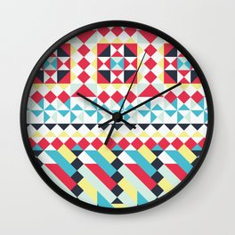 Boho Geometric No.1 Wall Clock