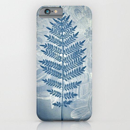 Jacaranda Leaf in Blue, Cream, Grey iPhone & iPod Case