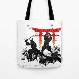 Samurai Duel Tote Bag
