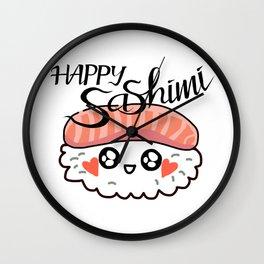 Happy Sashimi Wall Clock