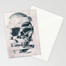 Glitch Skull Mono Stationery Cards