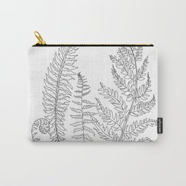 Minimal Line Art Fern Leaves Carry-All Pouch