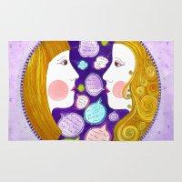 gemini Area & Throw Rugs featuring Gemini by Sandra Nascimento