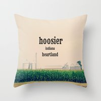 indiana Throw Pillows featuring Indiana by KimberosePhotography