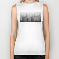 hong kong Biker Tanks featuring Hong Kong Island by Natural Born Vagabond