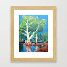 Riverbank Trees Framed Art Print