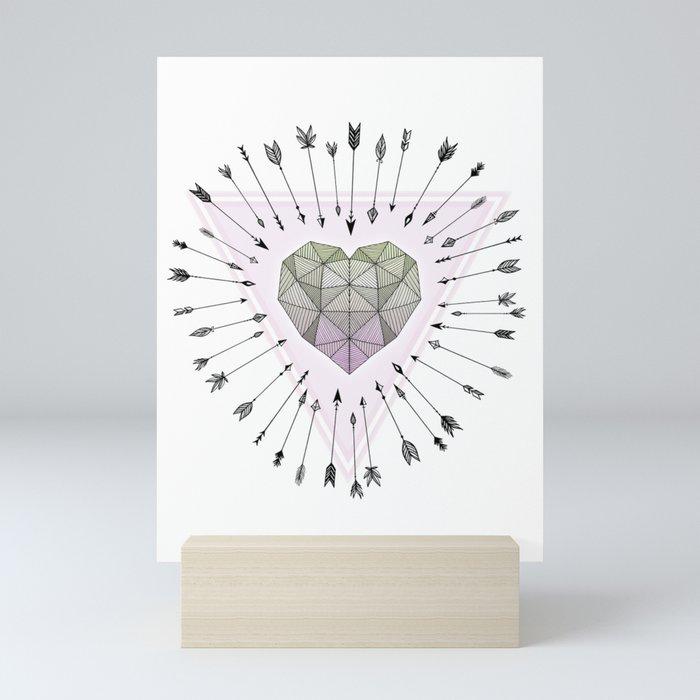 Young & Unafraid - Pink Mini Art Print