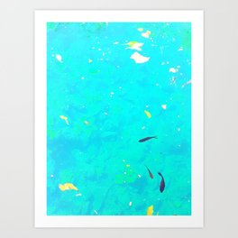 Here, Fishy Fishy.... Art Print