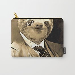 Gentleman Sloth with Monocle Carry-All Pouch