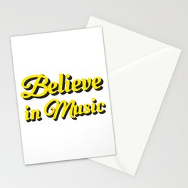 Believe in Music Stationery Cards