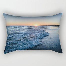 Sunset at the beach in 'Atlántida, Uruguay' Rectangular Pillow
