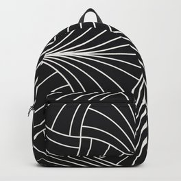 Diamond Series Inter Wave White on Charcoal Backpack