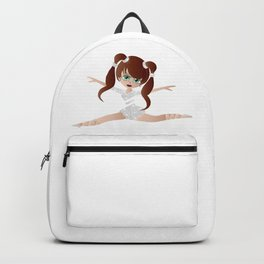 Beautiful Cartoon Ballerina Girl Backpack