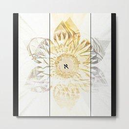 Tricolor Aleph Mandala Metal Print