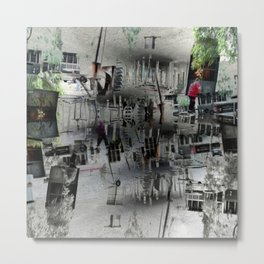 Proceeds delivered unobtrusively through hideouts. [D] Metal Print