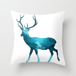 Precious Deer Throw Pillow