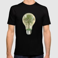 green ideas 02 Black Mens Fitted Tee LARGE