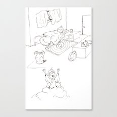 Morning Routine page #1 Canvas Print