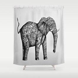 Tribal Elephant Shower Curtain