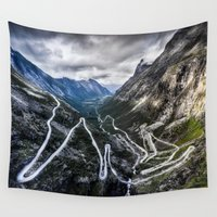 norway Wall Tapestries featuring Trollstigen, Norway. by Ar Ling Landscape photography