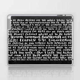 FitzSimmons Phrases in Black & White/2 Laptop & iPad Skin
