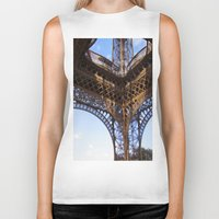 eiffel Biker Tanks featuring Eiffel by Mario Sa