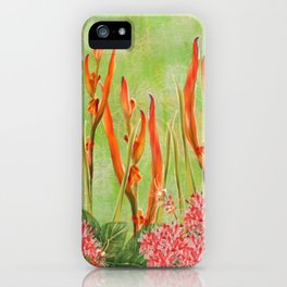 Tropical Floral Malaysian Border Print iPhone Case