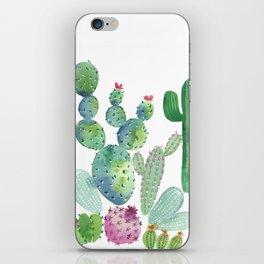 Watercolor Cacti bold iPhone Skin