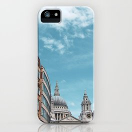 English Street Scene with St Paul's Cathedral iPhone Case