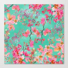 Elegant hand paint watercolor spring floral Canvas Print