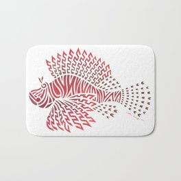 Tribal Lionfish Bath Mat