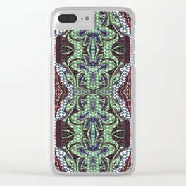 Abstract Butterfly Clear iPhone Case