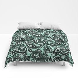 Aquamarine Paisley Pattern Comforters