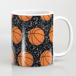 Basketball Player Ball Elegant Black Glitter  Coffee Mug