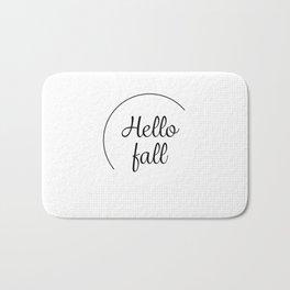 Hello fall | minimilist grid Bath Mat