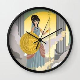 minerva athena goddess Wall Clock