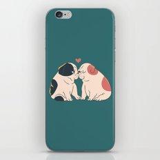 English Bulldog Kisses iPhone & iPod Skin