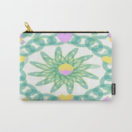 Tropical Pastel Hearts Carry-All Pouch