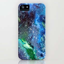 Galaxy (blue/green) iPhone Case