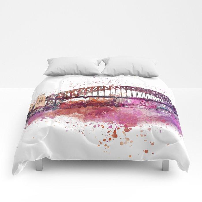 Sydney Harbor Bridge Watercolor Art Comforters