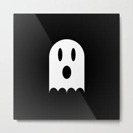 Scary Halloween Ghost Metal Print